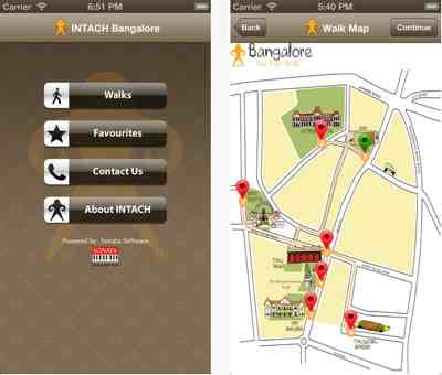 Intach Bangalore Walking Tour App