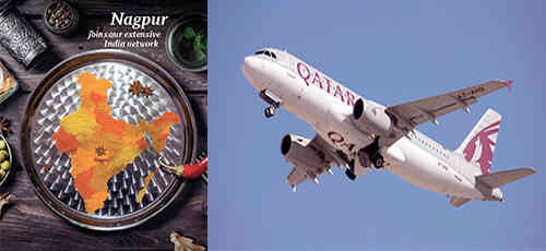Qatar Airways Non-stop Flight to Nagpur
