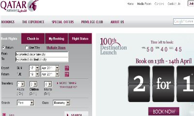 Folks, Check Out Qatar Airways' 2-1 Deal
